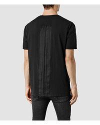 AllSaints - Black Scripture Crew T-shirt for Men - Lyst