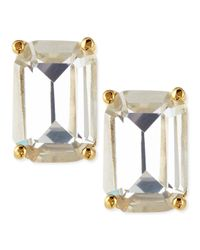 kate spade new york - Multicolor Emerald-cut Crystal Earrings - Lyst