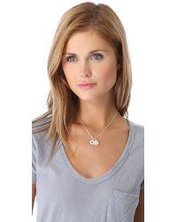 Helen Ficalora | Metallic Cutout Star Charm - Silver | Lyst