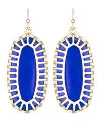 Kendra Scott | Blue Dayla Oblong Earrings With Box | Lyst