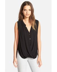 Velvet By Graham & Spencer | Black Challis Top | Lyst