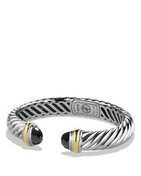 David Yurman | Metallic Waverly Bracelet With Black Onyx & Gold | Lyst