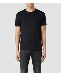 AllSaints | Blue Brace Tonic Crew T-shirt for Men | Lyst