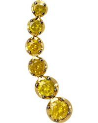 Annoushka - Dusty Diamonds 18ct Yellow-gold And Diamond Right Ear Pin - Lyst