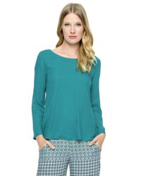 Ella Moss | Blue Stella Surplice Back Top | Lyst
