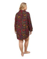 Lauren by Ralph Lauren - Multicolor Plus Size Flannel Sleepshirt - Lyst