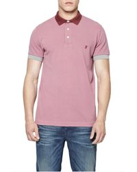 French Connection - Purple Photon Pique Polo Shirt for Men - Lyst