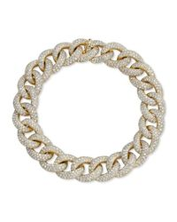 Anne Sisteron | Metallic 14kt Yellow Gold Diamond Luxe Chain Link Bracelet | Lyst