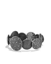 David Yurman - Metallic Cable Coil Bracelet with Diamonds - Lyst