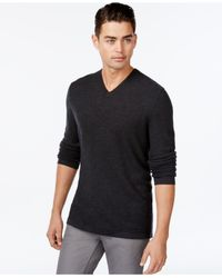 INC International Concepts | Gray Zirconia Tonal Stripe Merino Blend Sweater for Men | Lyst