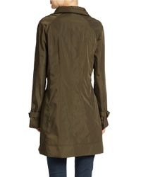 Calvin Klein | Green Packable Rain Repellent Jacket | Lyst