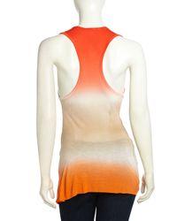 Young Fabulous & Broke - Orange Draped Asymmetric Ombre Top - Lyst