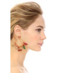 Tory Burch | Multicolor Sylvan Charm Hoop Earrings | Lyst