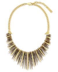 Vince Camuto | Metallic Gold-tone Stone Drama Collar Necklace | Lyst