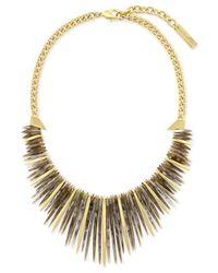 Vince Camuto | Metallic Gold-tone Stone Drama Collar Necklace | Lyst