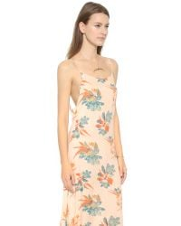 Free People - Pink Printed Maxi Dress - Raven Combo - Lyst