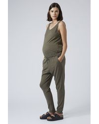 TOPSHOP - Natural Maternity Jersey Jumpsuit - Lyst