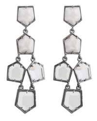 Lele Sadoughi | Prism Chandelier Earrings, White Star | Lyst