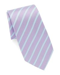 Vince Camuto | Purple Striped Silk Tie for Men | Lyst