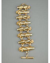 Paco Rabanne - Metallic Twist Link Bracelet - Lyst