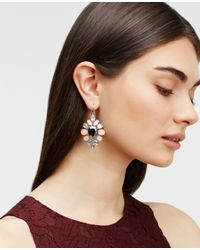 Ann Taylor | Pink Crystal Teardrop Earrings | Lyst