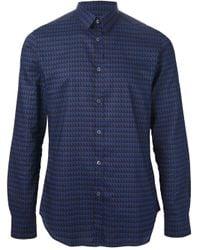 Paul Smith - Blue Geometric Print Shirt for Men - Lyst