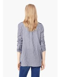 Mango - Black Check Cotton Shirt - Lyst