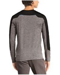 BOSS Green - Gray 'togntech' | Tech Jersey Long Sleeve T-shirt for Men - Lyst