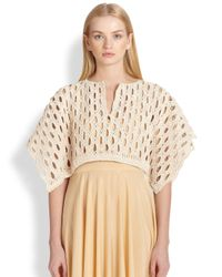 The Row - Ania Knit Poncho - Lyst