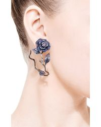 Lydia Courteille - Blue 18k Yellow Gold To Cassandra Earrings with Fancy Sapphires - Lyst