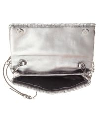 Miu Miu - Metallic Matelassé Leather Shoulder Bag - Lyst