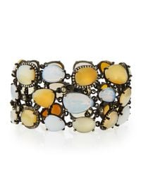 Bavna | Yellow Statement Bracelet With Opals, Moonstones for Men | Lyst