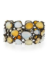 Bavna - Yellow Statement Bracelet With Opals, Moonstones for Men - Lyst