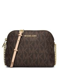 MICHAEL Michael Kors | Brown Selma Zip Large Tz Satchel | Lyst