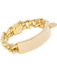 Ann Dexter-Jones - Metallic Id Bracelet - Lyst