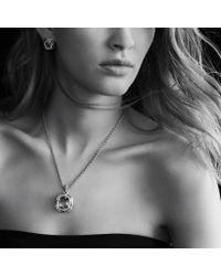 David Yurman | Metallic Labyrinth Earrings with Prasiolite and Diamonds | Lyst