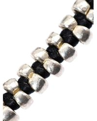 Paul Smith - Black Double Silver Bead Bracelet for Men - Lyst