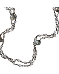 Jordan Alexander - Metallic Tahitian Pearl And Moonstone Necklace - Lyst