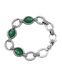 Lagos | Metallic Venus Malachite Link Bracelet | Lyst