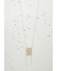 Forever 21 - Metallic Longline Ladder Tassel Necklace - Lyst