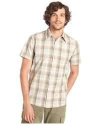 G.H. Bass & Co. - Natural Cascade Plaid Poplin Short Sleeve Shirt for Men - Lyst