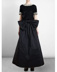 Ashish - Black Bell Skirt with Bow - Lyst
