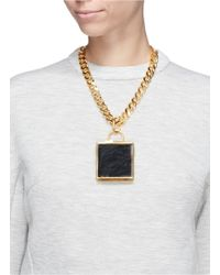 Toga | Metallic Leather Box Locket Chain Necklace | Lyst
