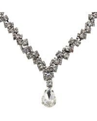 John Lewis | Metallic Cubic Zirconia Pear Drop Necklace | Lyst