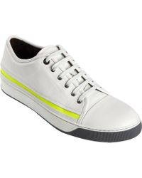 Lanvin | White Side Stripe Lowtop for Men | Lyst