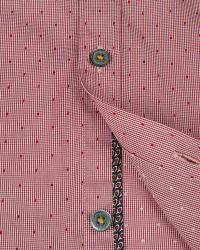 Ted Baker - Red Burcin Micro Check Dobby Shirt for Men - Lyst