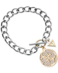Guess | Metallic Two-Tone Quatro G Bracelet | Lyst