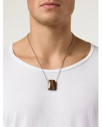 Joseph Brooks - Brown Flourite Pendant Necklace for Men - Lyst