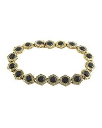 House of Harlow 1960 - Metallic Hexes Tennis Bracelet - Lyst