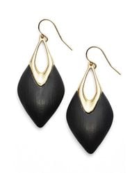 Alexis Bittar | Black 'lucite' Drop Earrings | Lyst